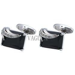 VAGULAの黒い水晶人のフランスのワイシャツのカフスボタンの人の宝石類399