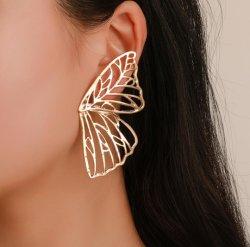 Asas de borboletas oco brincos, exagerada tendência de estilo ocidental Fan-Shaped Liga criativa brincos grosso 2020 Novos Acessórios de Moda