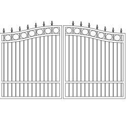 塀のための装飾的なメインゲートデザインフレームそしてゲートの波カッコ