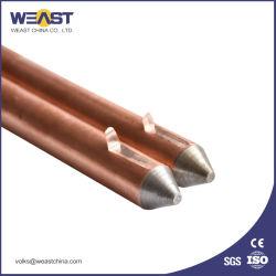 Kupferner geklebter Bodenrod für Erdung-System