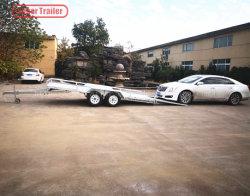 De Aanhangwagen van de Auto van de As achter elkaar met de Regelbare Helling van de Lading
