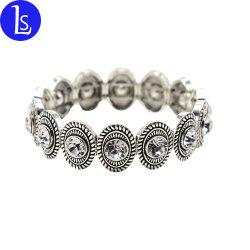 Weinlese-antike silberne Armband-Zink-Legierungs-ovales Schweber-Armband