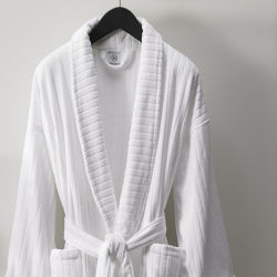 De buitensporige Katoenen Mensen /Women van Terry Stripe Bathrobe Velvet Robes