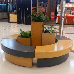S331 la fibra de vidrio de Banco comercial moderno mobiliario silla con maceta para interiores, exteriores