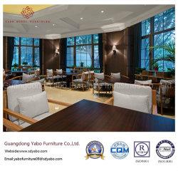 가죽 표면 (YB-C-15-1)를 가진 가구를 식사하는 현대 고리 버들 세공 호텔 나무로 되는 대중음식점