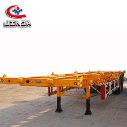 De Aanhangwagen van het Skelet van het Vervoer van de Container van de Fabriek 3axles van Liangshan 40FT/Flatbed Semi Aanhangwagen van de Vrachtwagen van de Lading van Chassis voor Verkoop