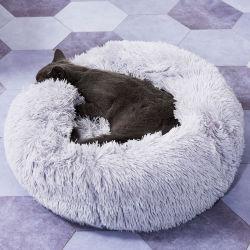 Des Nest-Fabrik-Direktverkauf-Plüsch-runder Hundes des Hundes Nest-Nest-Hundebett-Kissen-Haustier-Zubehör der populären Haustier-Nest-Katze