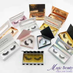 Venda por grosso de visões de Cosméticos Eyelash Caixa personalizados de qualidade superior a utilização diária Lilly Chicotadas mesmo Strip Eyelash falsa 3D Martas pestanas para elevação da Folga