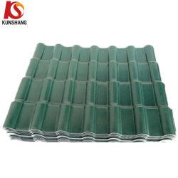 Зеленый цвет синтетические смолы испанский/Королевского ПВХ плитки на крыше/лист