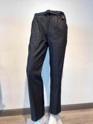 Cinza Preto Azul Empoeirado Aplicar Jeans masculina