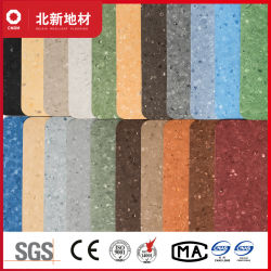 Hellgelb und Umwelt homogen PVC Vinyl Bodenbelag 1021