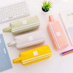 Caixa de lápis com pega Creative e multifuncional Lápis Double-Layer Caso Aluno Caixa de lápis