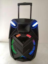 15дюйма встроенная батарея Аудио выберите Wireless передвижной акустическая система с красочными лампа