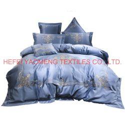 Bedsheets80d duvet-Deckel stellt ägyptische Baumwollbett-Blätter des Stickerei-König-Size 100% ein
