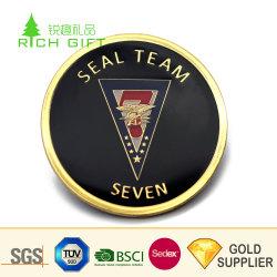 Moneta raccoglibile placcata oro d'ottone su ordine di fascino del metallo di alta qualità euro mini con la scatola di presentazione