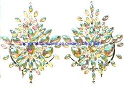 Gioielli provvisori del seno dell'autoadesivo della decorazione del tatuaggio del Rhinestone di scintillio della gemma della cassa