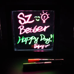 LED leuchten der Tafel, LED-Handschrifts-Vorstand, leuchtende Anschlagtafel, Leuchtstoffvorstand, bunter Meldung-Vorstand