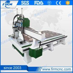 servomoteur 1530 Wood CNC Router Machine de découpe 4 têtes pour la vente