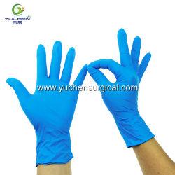 Одноразовые синего цвета Порошок бесплатного медицинского стоматологического нитриловые перчатки дешевые нитриловые перчатки исследования