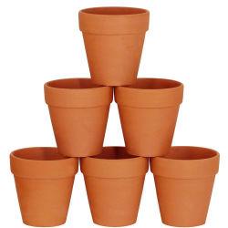 6 PCS grande vaso de terracota panelas de barro 5'' Barro Olaria Cerâmica Plantadeira Cactus Vasos
