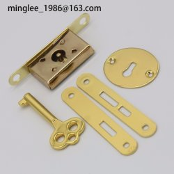 De petits bijoux BIJOUX Boîte à cigares en bois tiroir plein de verrouillage de la penderie Jeu de clés de blocage encastrées