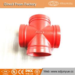 工場価格の延性がある鋳鉄の管付属品の溝がある十字