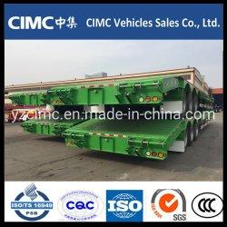 CIMC 3 차축 60t 70t 80t 중부하 작업용 유압 구스넥 분리형 저로더 트럭/로베드/로보이 로우 베드 세미 트레일러