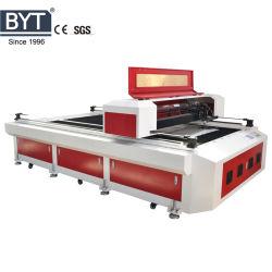Bytcnc 1325ステンレス製の銅のペーパー合板MDF革PVC表記のカッターまたは彫版のための1530の金属レーザーの打抜き機