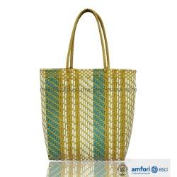 Populärer verwendeter Stroh-Strand sackt handgemachte PET Frauen-Handtasche für Verkauf ein