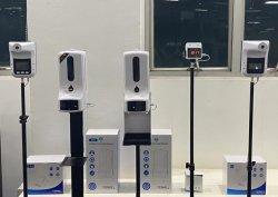 Dispensador de sabão para o Suporte de Piso Tripé Tripé dispensador automático