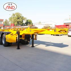 Fabricado en China 3 Ejes remolque camión esqueleto Semi-Trailer contenedor
