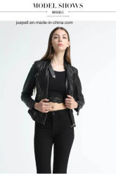 Nouveau Mesdames Femmes Slim Fit veste de cuir
