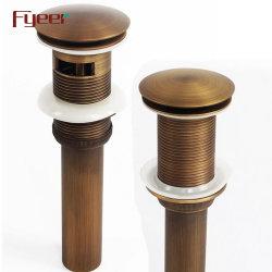 Fyeer Antique Brass Basin Water Drainer Pop Up Drain