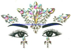 Os cristais de Corpo Rhinestone jóias personalizado Face Lágrimas cintilantes autocolante