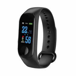 Ecrã a cores mais recente atividade Fitness Tracker Band M3 Bracelete inteligente com o monitor de ritmo cardíaco