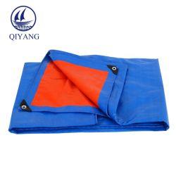 Bleu Orange PE enduit anti-pluie selon la taille de la bâche de protection de fournisseur de ventes en usine