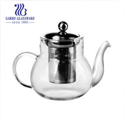 hohe Glas-Teekanne des Borosilicat-700ml mit Edelstahl Infuser (GB550040730)
