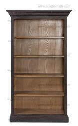 固体カシ木本箱の中のフランスの旧式な型のオフィス用家具の老化させたカシのコレクションの黒そして性質