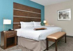 까만 흑단 목제 고급 호텔 룸 침대 가구