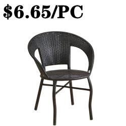 椅子を食事する卸し売り屋外の余暇の家具のConfortableの藤のビストロの喫茶店