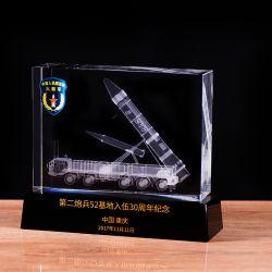 Groothandel Metal Glass 3D Laser Graving Souvenir Trophy Crystal