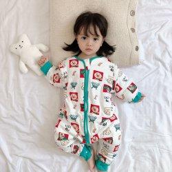 2020の卸し売り赤ん坊の製品の有機性赤ん坊はよいジッパーが付いているマルチカラー冬の厚化の方法赤ん坊のフード付きのロンパースに着せる