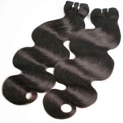 Venda por grosso Chinês Brasileira Russo Indiano Natural Remy cutícula alinhados Virgem bruto de cabelo humano tecem ramal