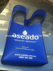 Hombro tejida PP personalizados reutilizables Bolsa Messager Wholesale