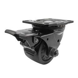 Dlpoの金属の倍ブレーキが付いている低引力の薄型の機械装置頑丈なPAの足車の車輪