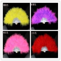 8pcs/lot Fancy Dress Costumes colorés de la danse de mariage de l'utilisation Douce dame moelleux part Plume rouge blanc noir du ventilateur de couleurs rose royale