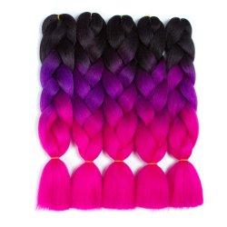 Moda Cor única de três cores sintético crochê entrelaçando barbeiro