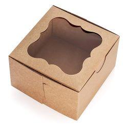 Коричневый пекарня дружественность к системной плате бумаги картона подарок крафт-бумаги круглые упаковке