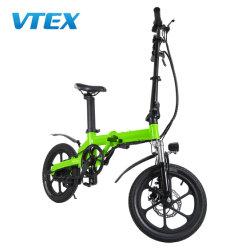 성인 16 인치 전기 자전거 36V 250W 휴대용 재충전 건전지 E 자전거