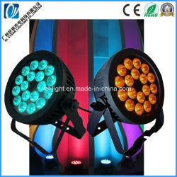 Dirigé par plat étanche RGBWA UV 18*18 6en1 LED couleur